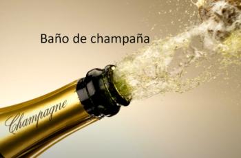 Baño de champaña