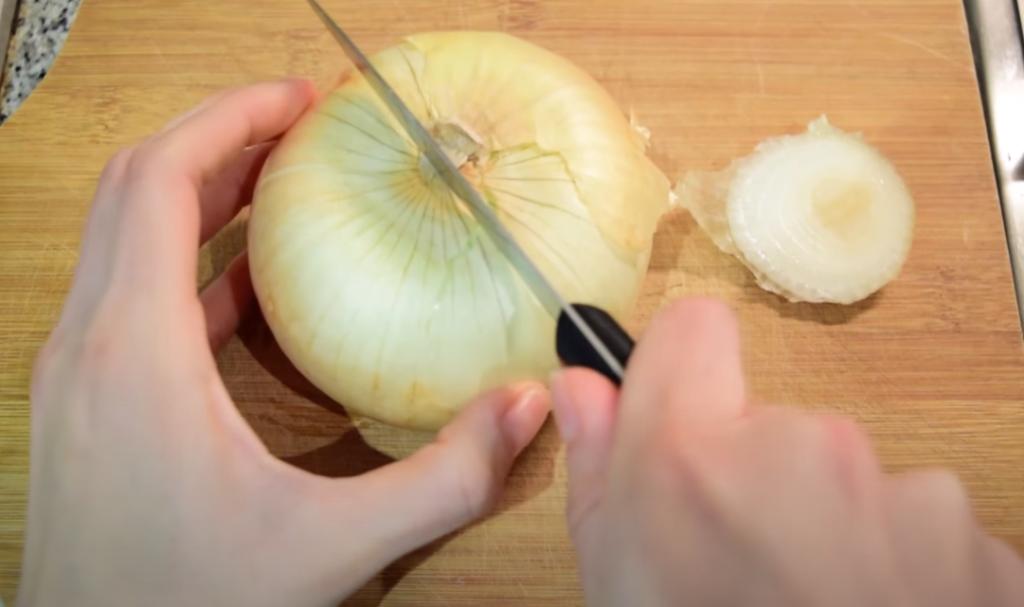 cortar la cebolla para la pérdida de peso